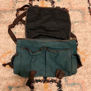earthbound teal messenger bag